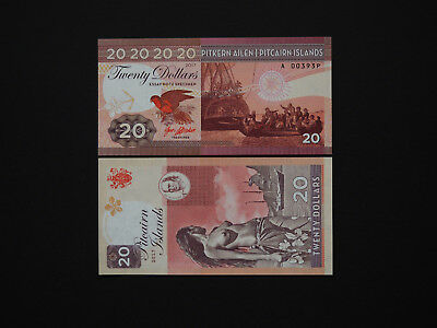 PITCAIRN ISLANDS BANKNOTES - STUNNING IMAGES  $20  ART ISSUE   2017    Mint UNC