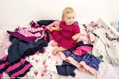 Job Lot of 25kg Used Mixed Baby and Children's Clothes 0 months to 6 Years Cream