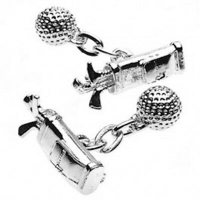 Golf Cufflinks Silver Plated And Gift Boxed By Christopher Simpson