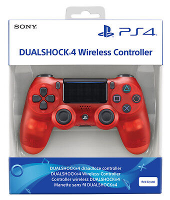 Playstation 4 PS4 Dualshock 4 Controller Wireless V2 Red Crystal