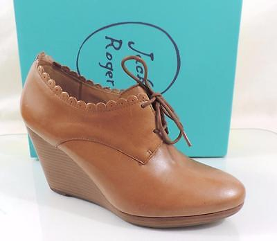 25b96fcc764 Women s Shoes Jack Rogers OLIVIA Oxford Wedge Booties Leather Oak Tan Size 9