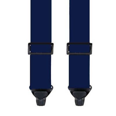 KIDS SKI PANT SUSPENDERS in NAVY BLUE - 2 SIZES FOR BETTER FIT - NON METAL CLIPS