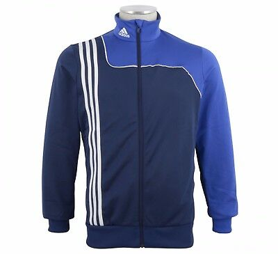 "Adidas Performance Mens Sereno 11 Full Zip Track Top Navy Size L 44-46"" Bnwt"