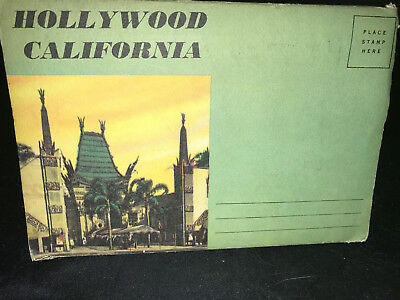 Vintage Hollywood California Fold Out Postcard Book 12 Total Photos 1940s 1950s