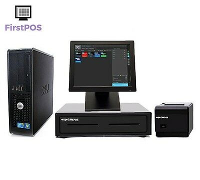 FirstPOS 12in Touch Screen EPOS POS Cash Register Till System Drugstore