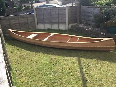 Hand Crafted Wooden Canoe