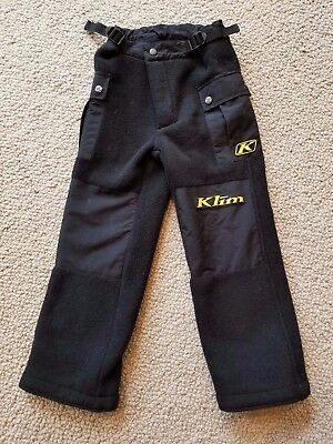 KLIM Snowmobile Everest Pants Youth Kids Mid Layer with Pockets Warm Size 6 EUC