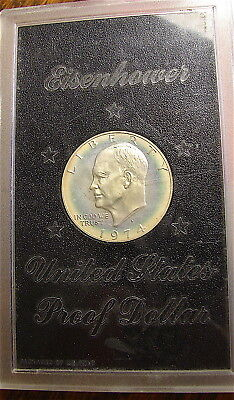 1974-S Eisenhower Proof Silver Dollar---40%----Toning---free ship