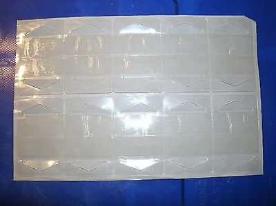 500 New Clear Plastic Self Adhesive / Stick Hook Hang Tabs Hangers 16 Oz Limit