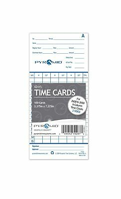 Pyramid 42415 Genuine Time Cards for 2500 2600 & 2650 Auto Aligning Time Cloc...