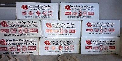Lot Of 8 Vintage 1990s New Era EMPTY Hat Boxes