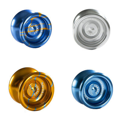 Yomega Maverick Yo Yo Blue Silver Gold and Blue Splash + 3 Neon String YEL/OR/GR