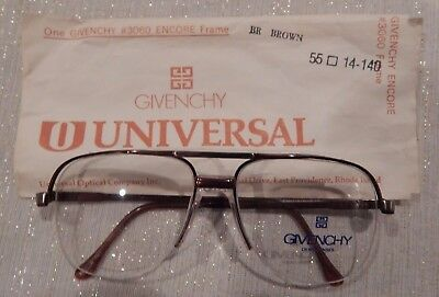Vintage Givenchy by Universal #3060 Encore Brown 55/14 Eyeglass Frame NOS #231