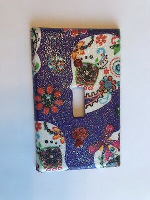 Sugar Skull Switch Plate Outlet Cover Decorative Switch Plate Hand Custom Made