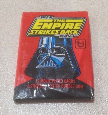 """1980 Topps """"The Empire Strikes Back Series 1"""" - Wax Pack (Press Sheet Variation)"""