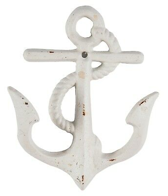 Ships Anchor With Rope Wall Hook Painted Distressed Cast Iron