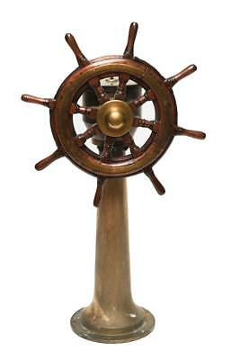 19TH CENTURY SHIPS WHEEL & STANCHION, DONKIN & CO. Lot 294