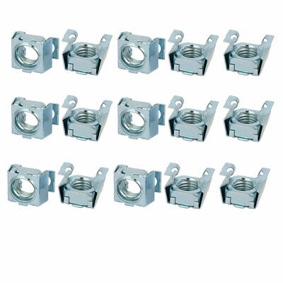 uxcell 20pcs M8 Carbon Steel Zinc Plated Cage Nut Silver Tone for Server Shelf Cabinet
