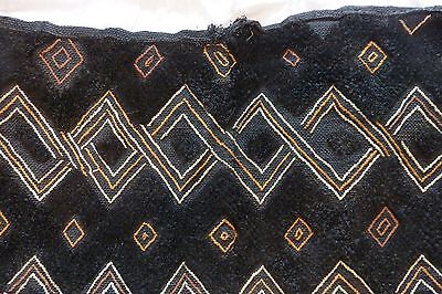 African Kuba Cloth Bakuba Raffia Hand Woven Rectangle Velvet Wall Decoration #7