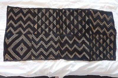 African Kuba Cloth Bakuba Raffia Hand Woven Rectangle Velvet Wall Decoration #5