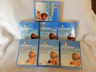 NEW 7 Boxes 700 GERBER 8oz Disposable Bottle Liners Bag Style Sacs 1994