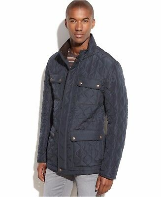 Vince Camuto Men Quilted Field Coat / Jacket Navy Size M, L