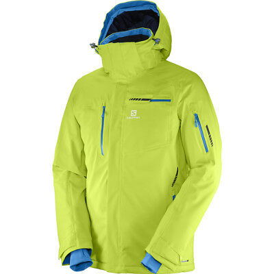 Salomon Brilliant Jacket M Herren Skijacke Art. 397299 Acid Lime Gr. S - XL NEU