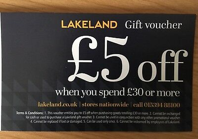 Lakeland Voucher £5 Off £30 Spend Instore/Online/Phone - Valid until 30/11/2017