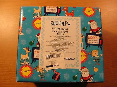 Enesco 2000 #725129 Rudolph Bumble With W/Star/Tree Waterball Rudolph And The