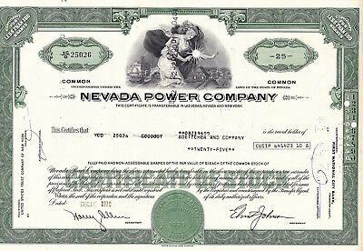 Nevada Power Company-shares v.1970