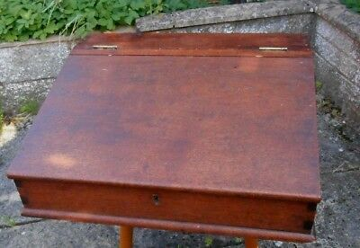 Antique Bible Box Writing Slope C 1910 Rustic 19 inch