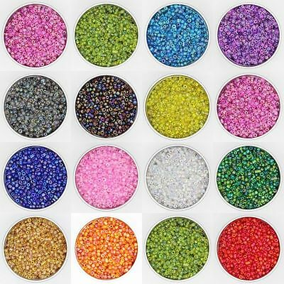 Czech 500X 32g 4mm Hole:2mm Round Solid Opaque Glass Seed Beads Jewelry Making