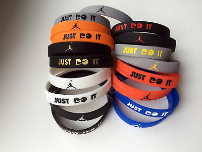 Nike Just Do It. JORDAN wristband sport baller bracelet arm silicone rubber 3D