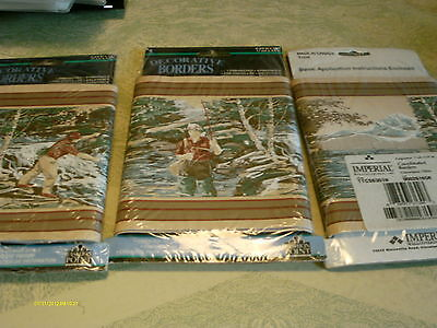 Imperial wall covers wallpaper Border Fishing 3 unopened rolls 5 yards each
