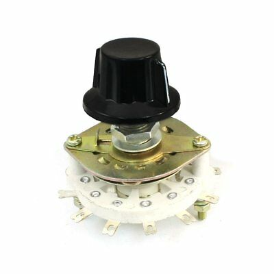 Plastic Knob 1P6T 1 Pole 6 Throw Band Channel Rotary Switch Selector