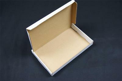 100 White Postal Cardboard Boxes Mailing Shipping Cartons Large Letter PIP OP1