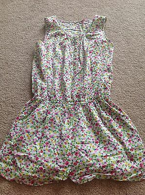 Next Girls Summer Ditsy Floral Shortie Playsuit Shorts - Age 10 Years - Exc Cond