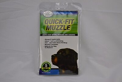 Four Paws Quick Fit Muzzle New in Package Size 1 (Small) -5 (XLarge)