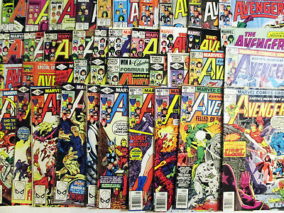 LOT of 40 AVENGERS Mid-High Grade 1980's  Key Marvel Issues Way Below Guide!