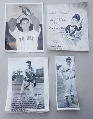 Lot of 4 Vintage Boston Red Sox Photos 1930s - 1950s