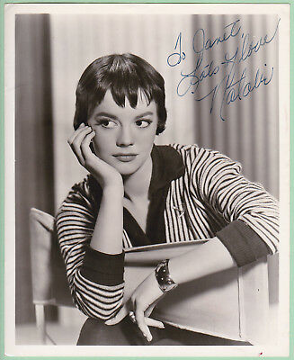Natalie Wood Signed Autographed Picture Secretarial from Melchior Collection