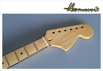 Stratocaster Canadian Maple Replacement Neck, Big Headstock, Black Bindings, TOP