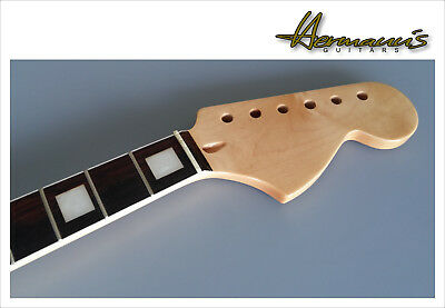 Stratocaster Replacement Neck, Canadian Maple, Big Headstock, Bindings TOP