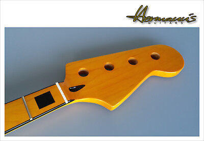 Vintage 70s Jazz Bass Replacement Neck, Canadian Maple mit Block Inlay´s  TOP