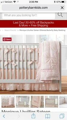 Pottery Barn Kids Monique Lhuillier Etheral Lace Quilt Blanket Comforter NWT