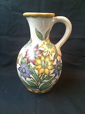 Vintage Royal Zuid Gouda Holland Hand Painted Vase , Can