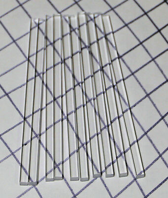"10 PC 1/4"" x 1/4"" x 6"" INCH LONG SQUARE CLEAR ACRYLIC PLEXIGLASS LUCITE ROD .250"