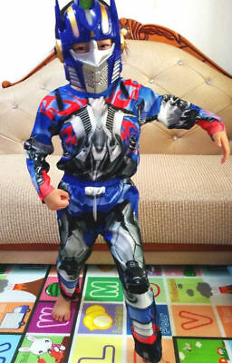 NEW Size 2-12 KIDS COSTUMES BOYS TRANSFORMERS OPTIMUS PRIME MASK SUPERHEROES TOY
