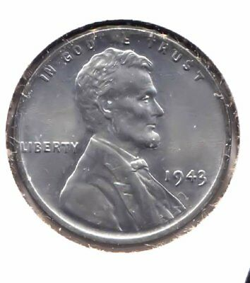 Uncirculated Wartime 1943 P Lincoln Steel Wheat Penny Coin Philadelphia Mint