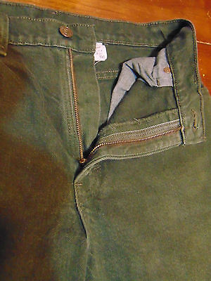 LEVIS 551 Vtg 80's Relaxed Fit Denim Jeans 8 Short (W 28 x L-29)Olive Green USA